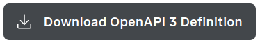 Button with label: Download OpenAPI3 Definition